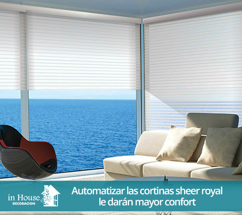 Cortinas sheer royal en sala de estar